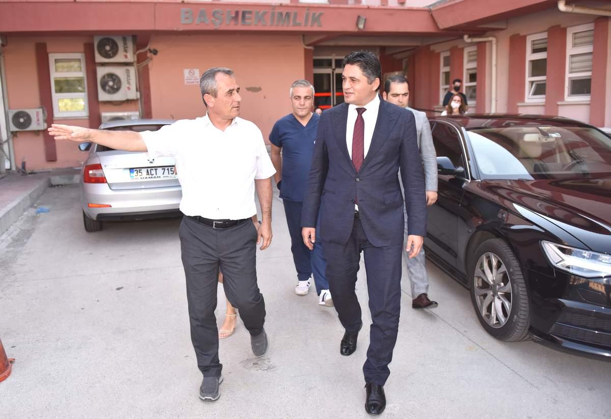 Aliağa belediye başkanından devlet hastanesine ziyaret