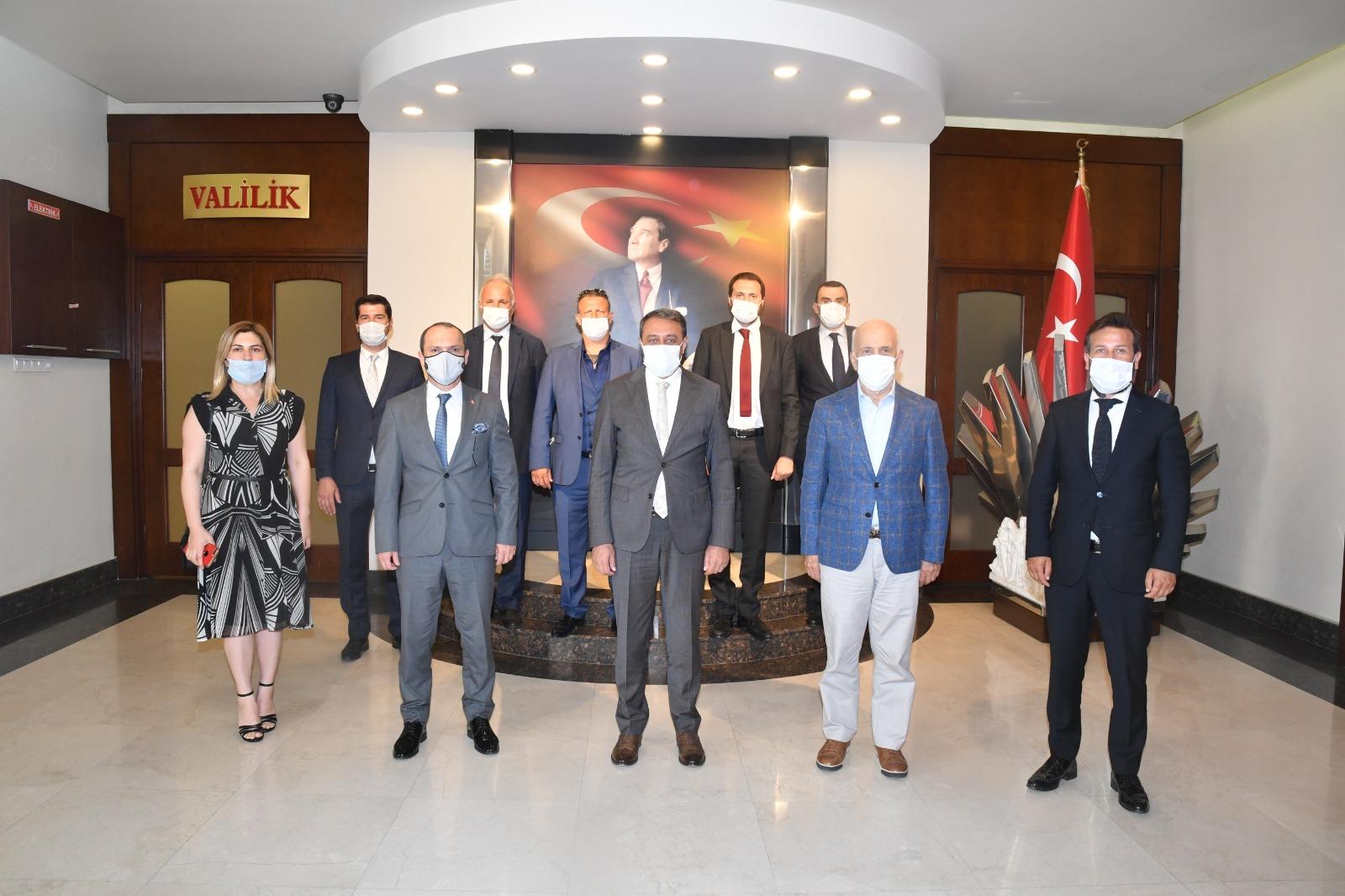 Marmara OSB Yönetim Kurulu , Balıkesir Valisi Hasan ŞILDAK'ı ziyaret etti.