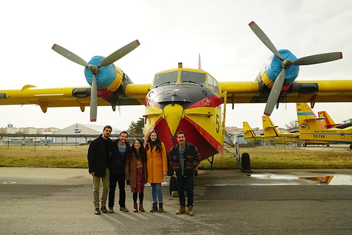 Gönül Dağı dizisi ekibi Türk Hava Kurumununda