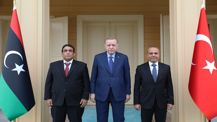 Cumhurbaşkanı Erdoğan, Libya Başkanlık Konseyi Başkanı Muhammed El Menfi ile görüştü